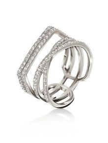 Folli Follie Fashionably silver band ring