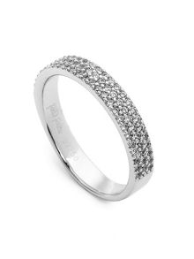 Folli Follie Fashionably silver thin band ring
