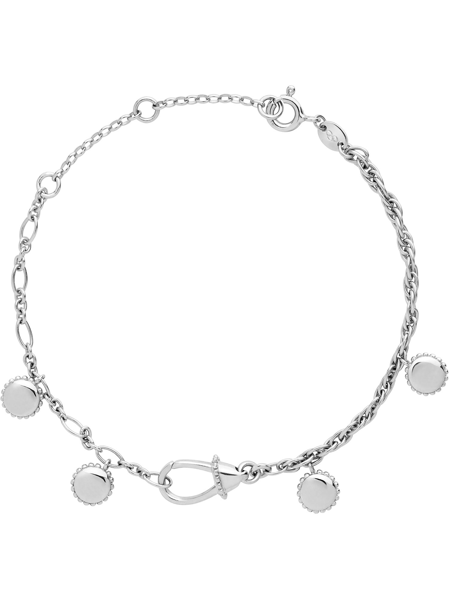 Links of London Amulet silver carabiner bracelet, N/A