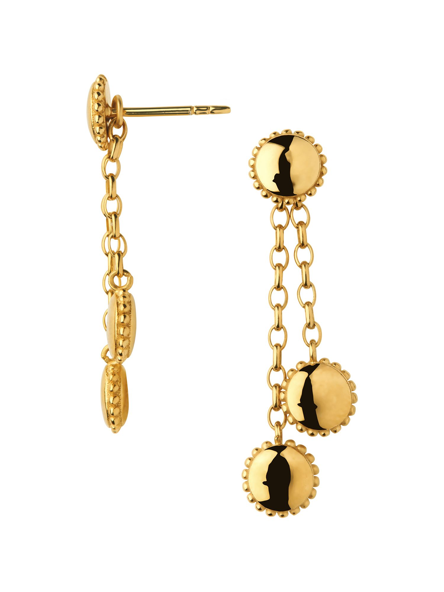 Links of London Amulet 18kt gold vermeil drop earrings, N/A