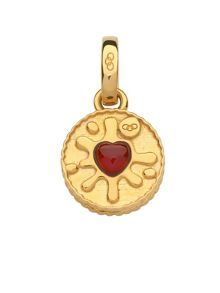 Links of London Gold vermeil & garnet jam ring charm