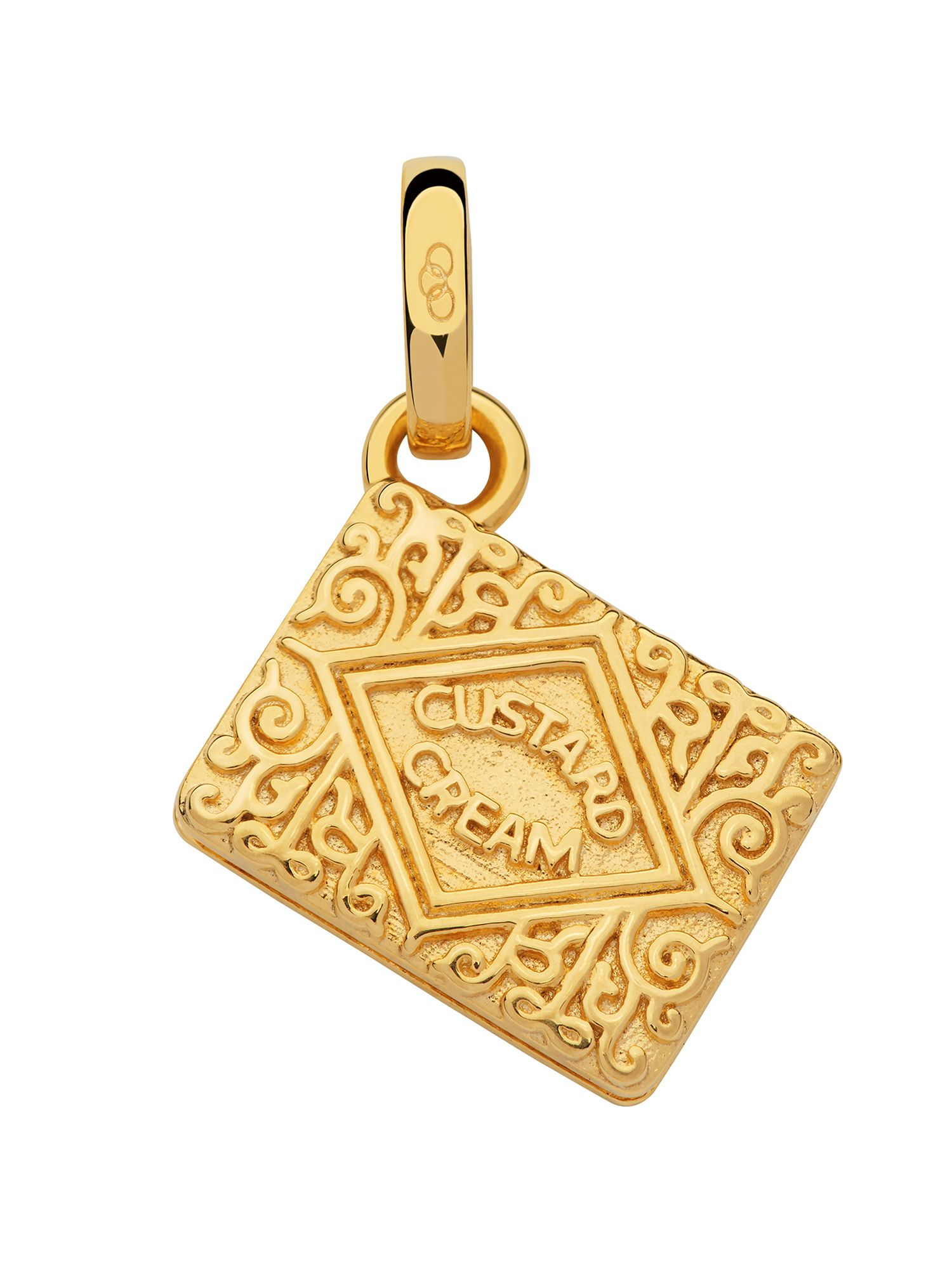 Links of London 18kt gold vermeil custard cream charm, N/A
