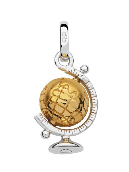 Links of London Silver & 18kt gold vermeil globe charm