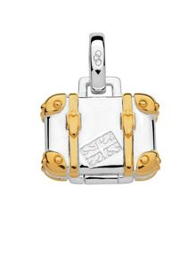 Links of London Silver & gold vermeil suitcase charm