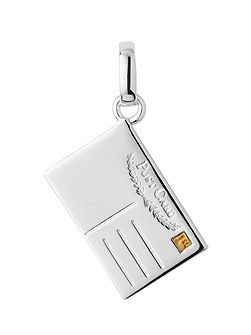 Sterling silver postcard charm