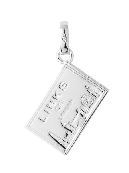 Links of London Sterling silver postcard charm