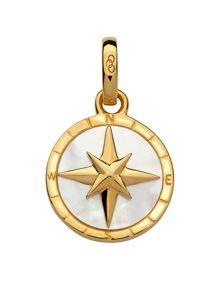 Links of London Gold & mother of pearl compass charm