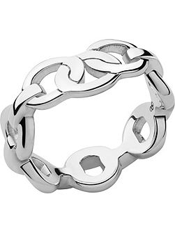 Signature sterling silver band ring