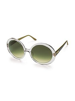 Oversized crystal clear sunglasses
