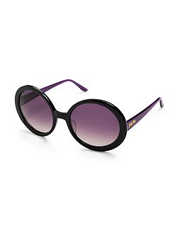 Black and purple round sunglasses