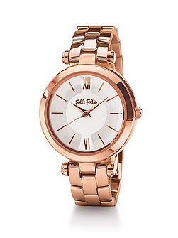 Lady bubble mini rose gold watch