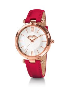 Folli Follie Lady bubble red watch