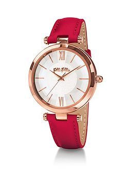 Lady bubble red watch