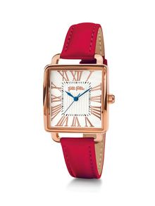 Folli Follie Retro square red watch