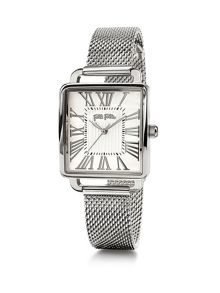 Folli Follie Retro square silver watch