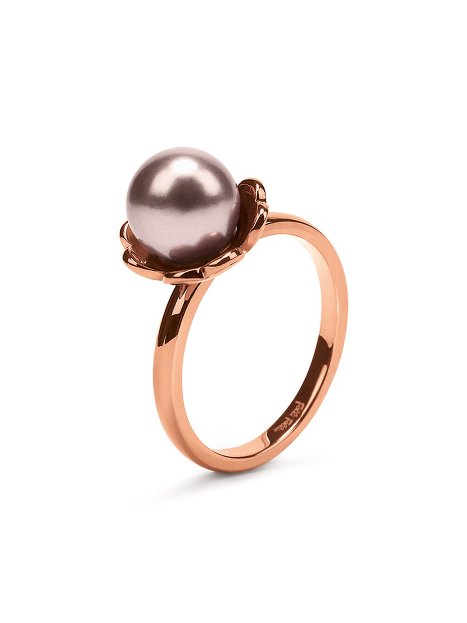folli follie grace flair pink pearl ring
