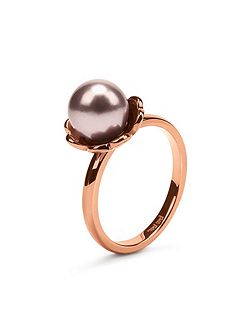 Grace flair pink pearl ring