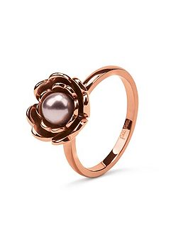 Grace flair pink pearl flower ring