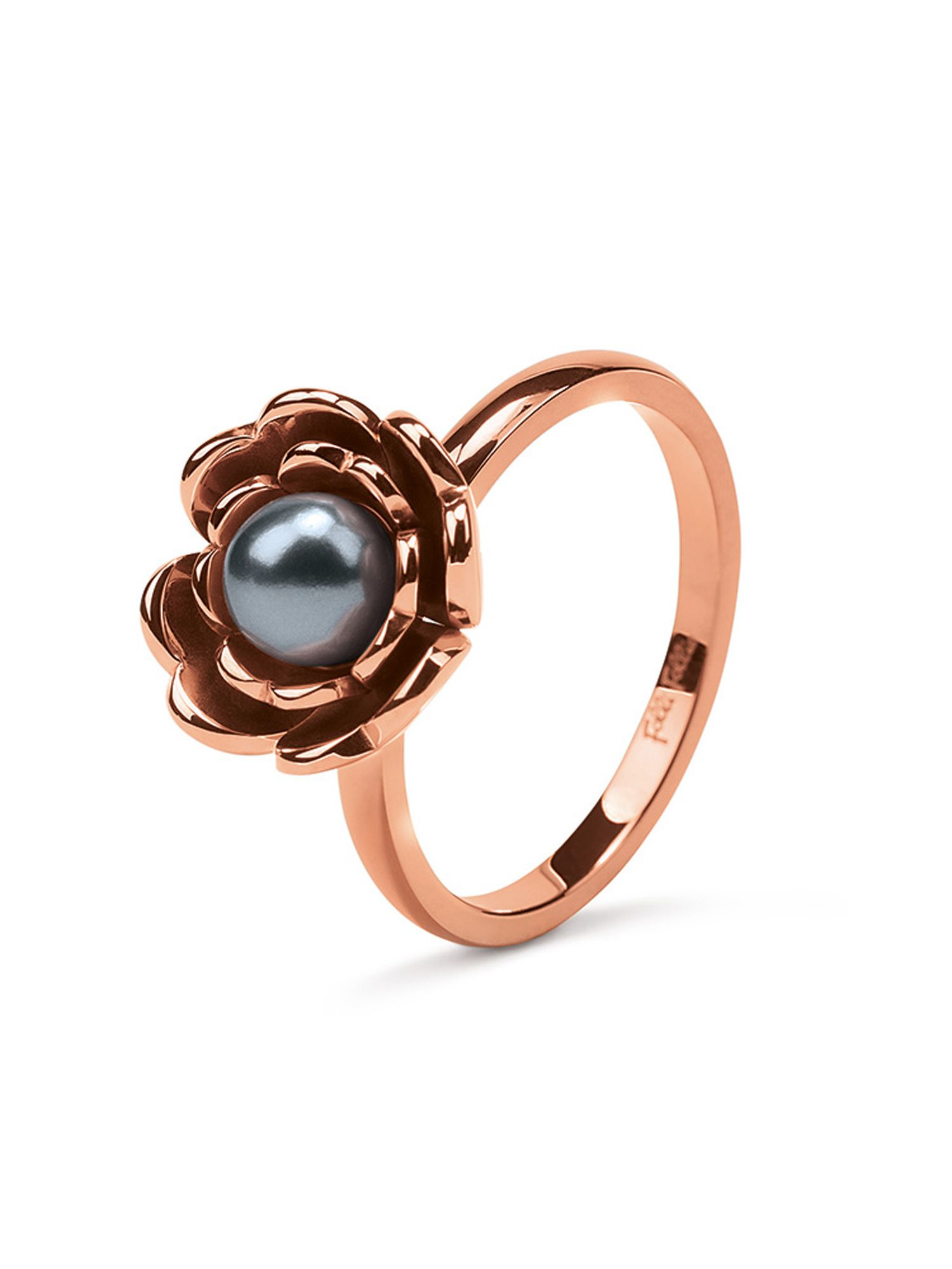folli follie grace flair blue pearl flower ring