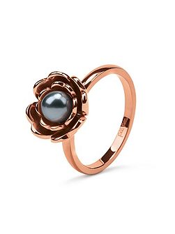 Grace flair blue pearl flower ring