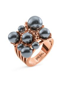 Folli Follie Grace flair blue pearl cluster ring