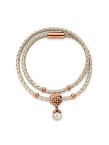 Folli Follie Santorini flower beige double bracelet