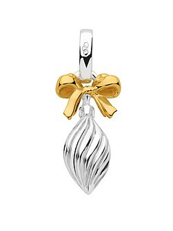 Silver & gold vermeil drop bauble charm