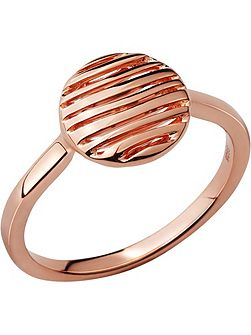 Thames 18kt rose gold vermeil ring