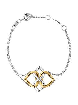 Infinite Love Silver & Gold Bracelet