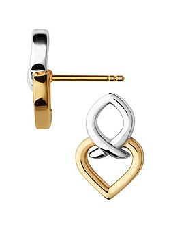 Infinite Love Silver & Gold Earrings