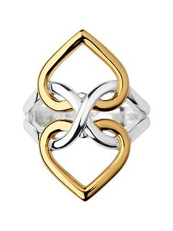 Infinite Love Silver & Gold Vermeil Ring