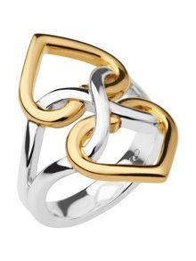 Links of London Infinite Love Silver & Gold Vermeil Ring