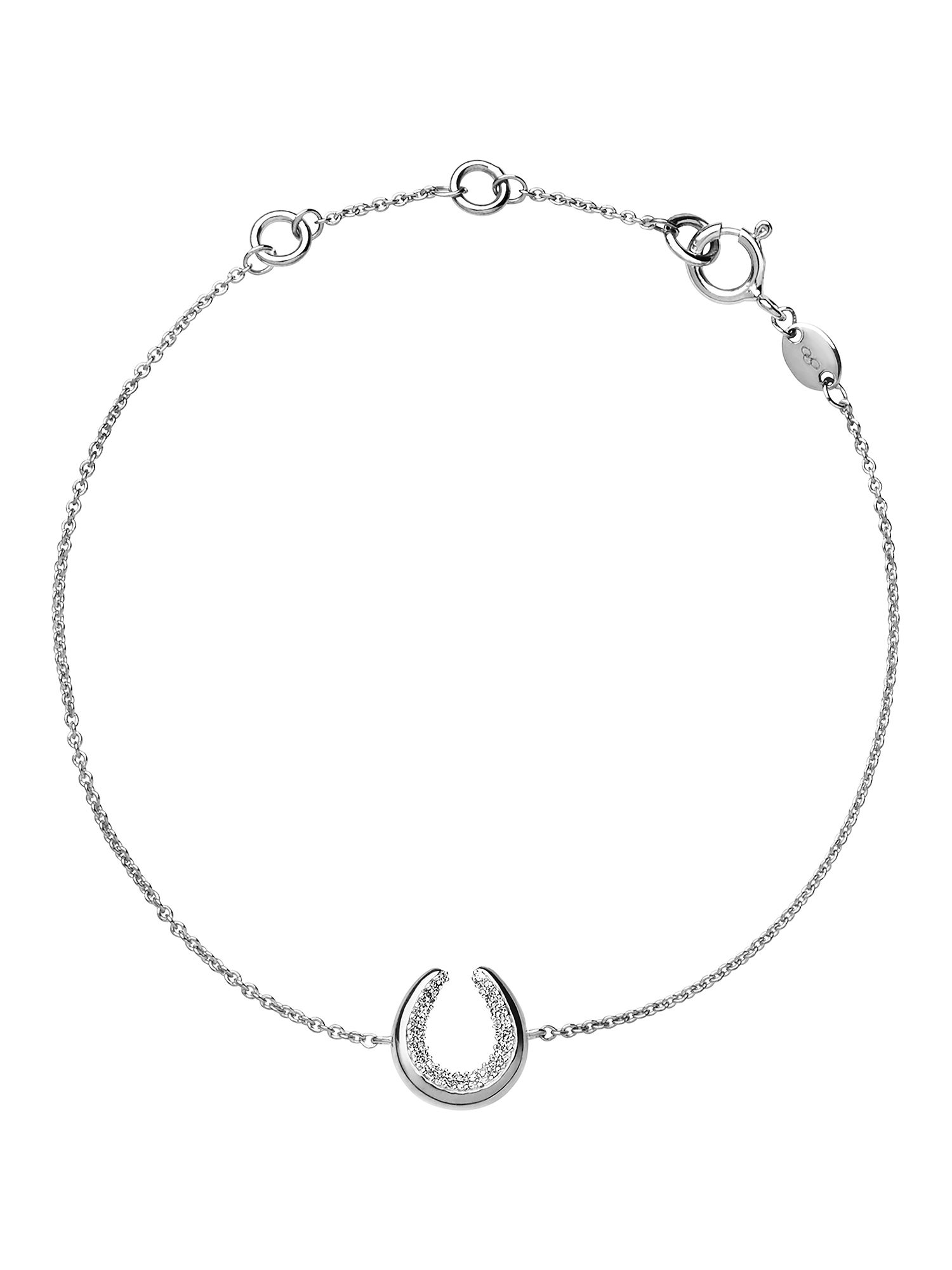 Links of London Ascot Sterling Silver Horseshoe Bracelet, Silver
