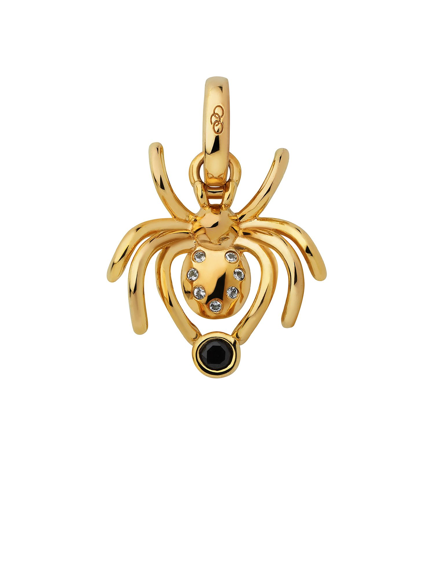 Links of London 18Kt Yellow Gold Vermeil Halloween Spider Charm, Gold