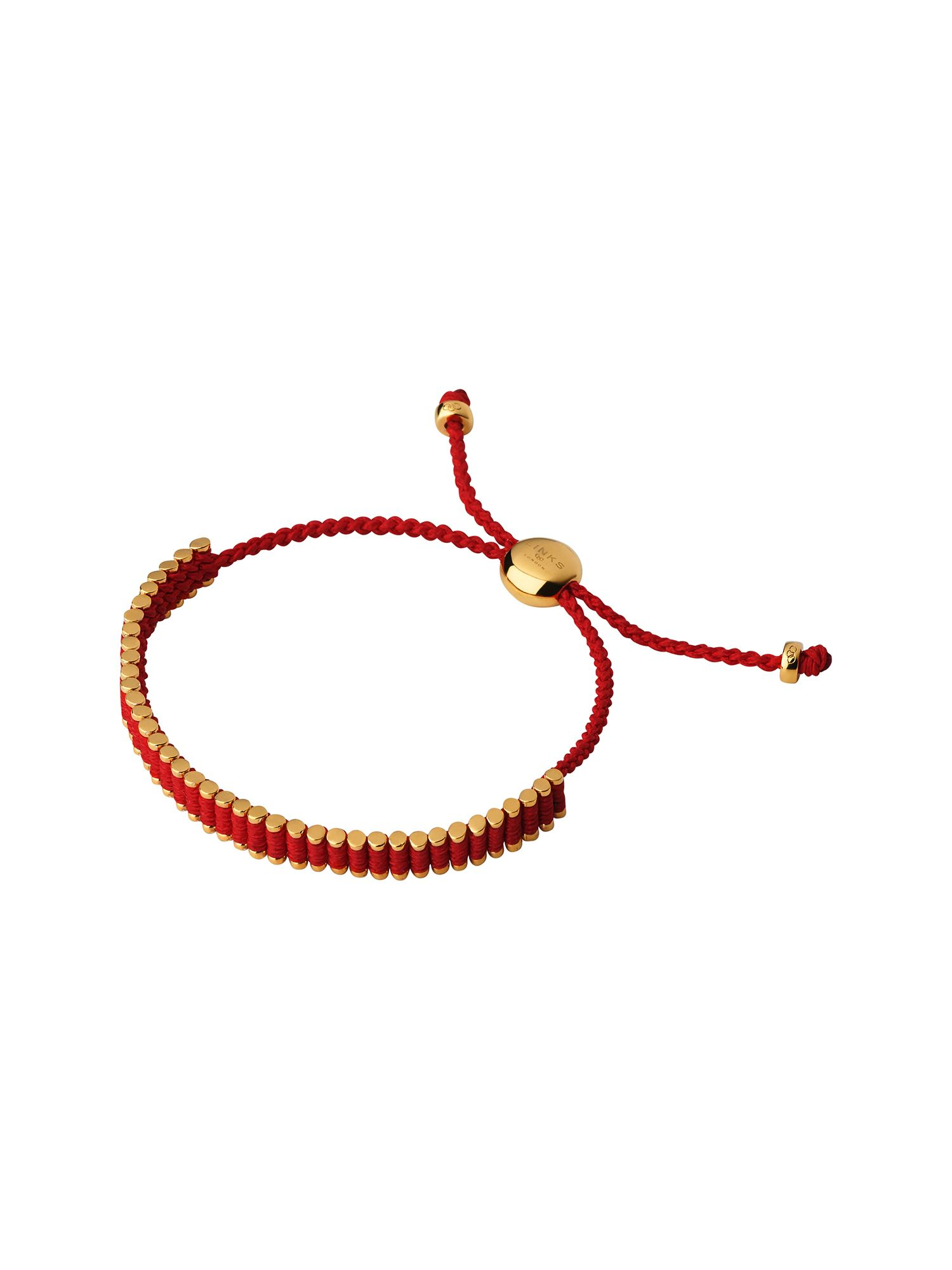 Links of London 18Kt Rose Gold Vermeil & Ruby Red Mini Friendship, Rose Gold