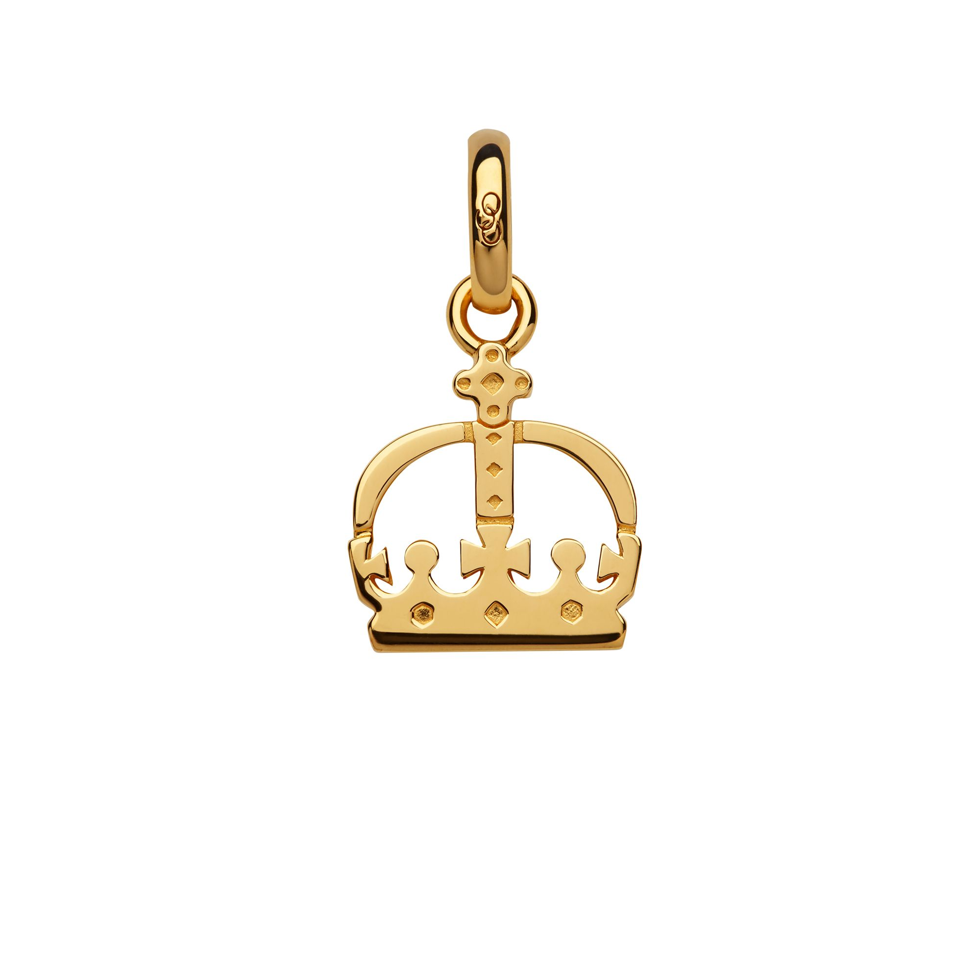 Links of London Ascot 18Kt Yellow Gold Vermeil Crown Charm, Gold