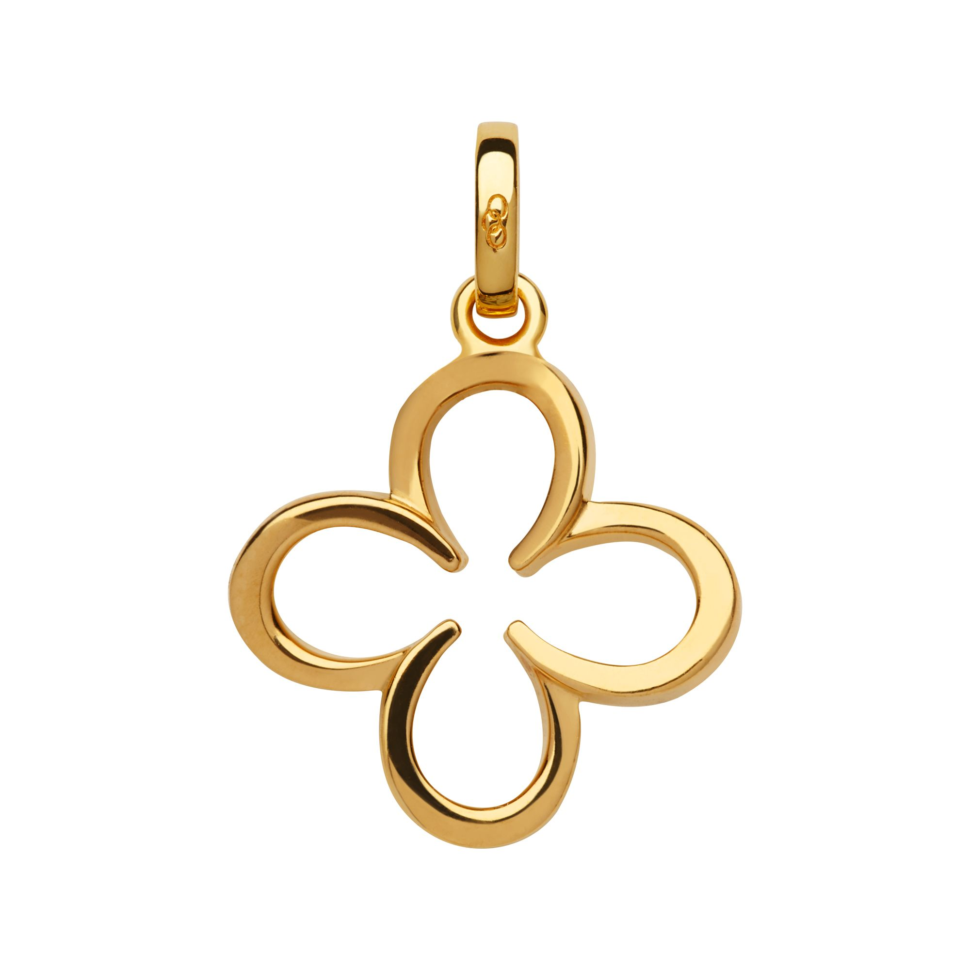 Links of London Ascot 18Kt Yellow Gold Vermeil Lucky Clover And H, Gold