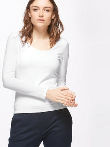 Jigsaw Double Front Scoop Tee