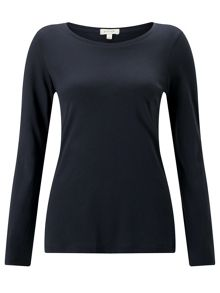 Jigsaw Pima Cotton Long Sleeve Crew Tee