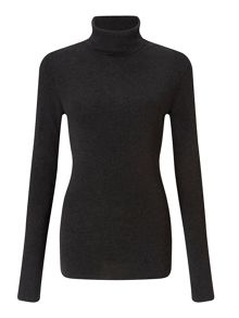 Jigsaw Silk Cotton Polo Neck Sweater