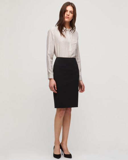 Jigsaw Paris Fit Wool Skirt