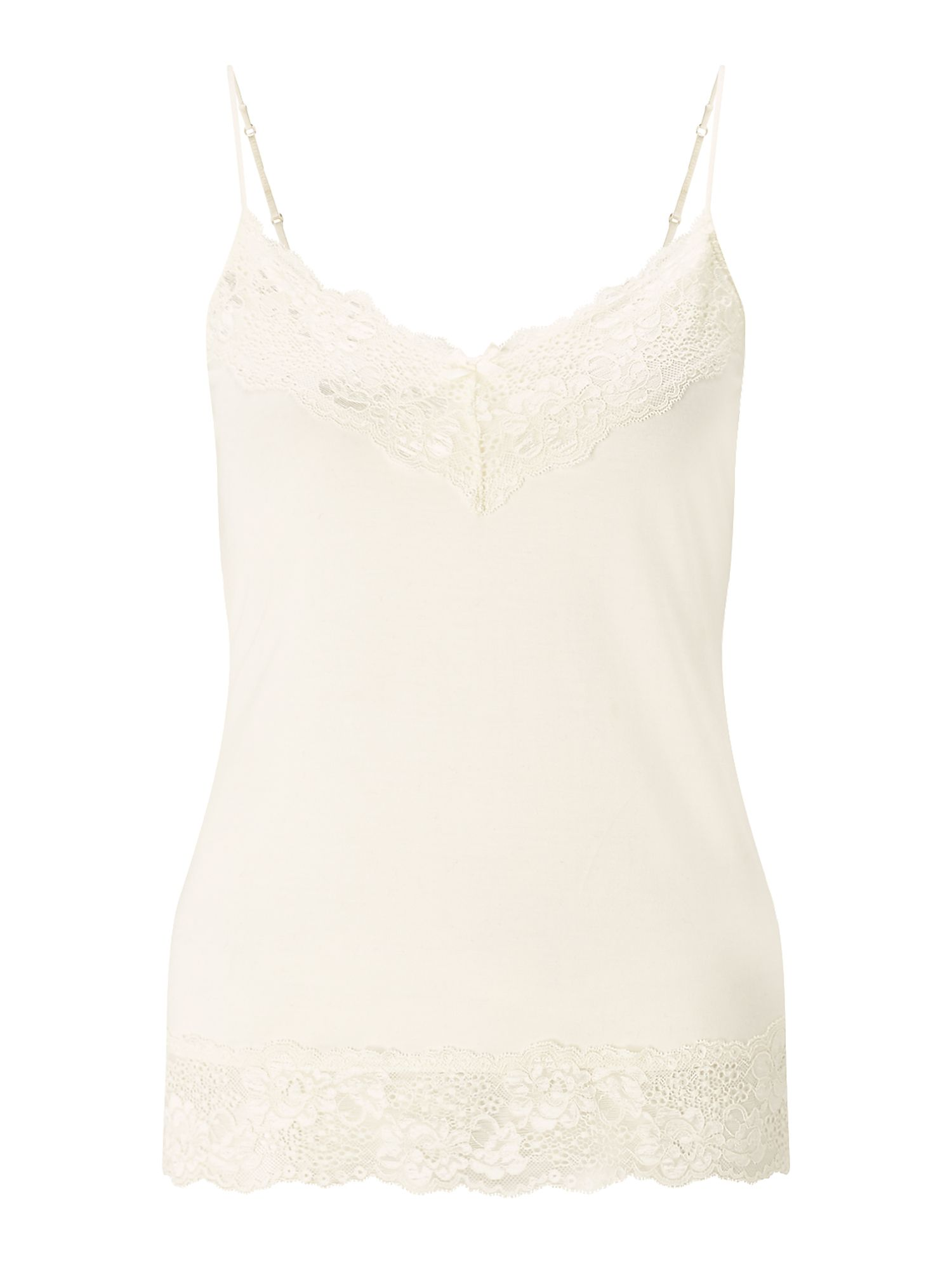 Jigsaw Modal Lace Vest, Cream