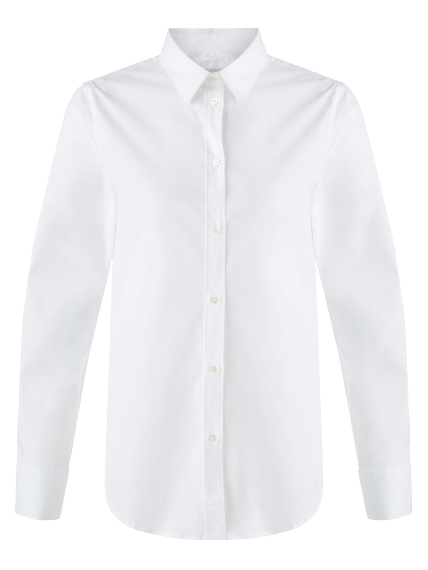 Jigsaw White Cotton Shirt, White