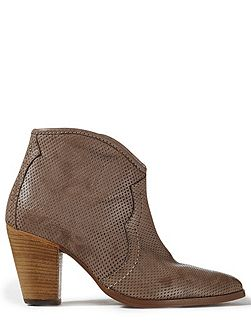 Cara perforated side zip boot
