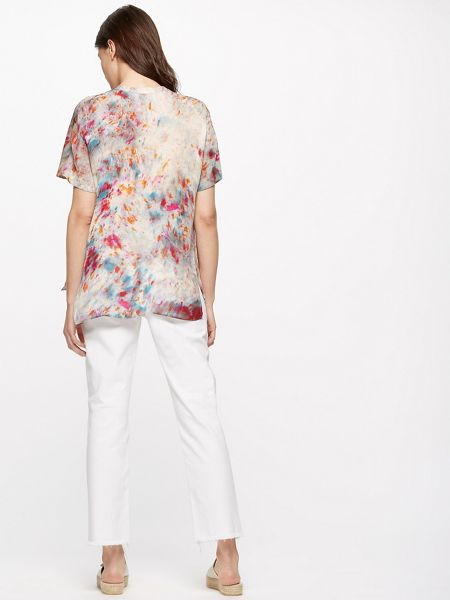Jigsaw Rainburst Silk Blouse