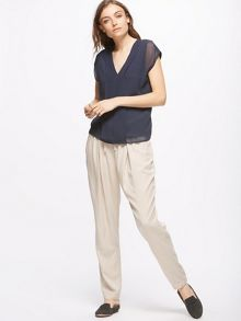 Jigsaw Silk Pleat Front Top