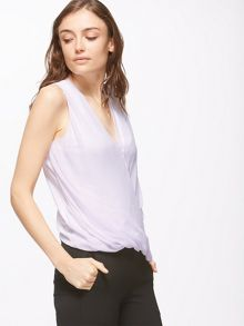 Jigsaw Silk Overlay Wrap Top
