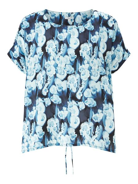 Jigsaw Georgia Flower Tie Front Top