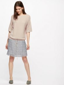 Jigsaw Drawstring Boat Neck Sweater