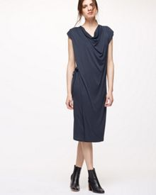 Jigsaw Cap Sleeve Cowlneck Dress